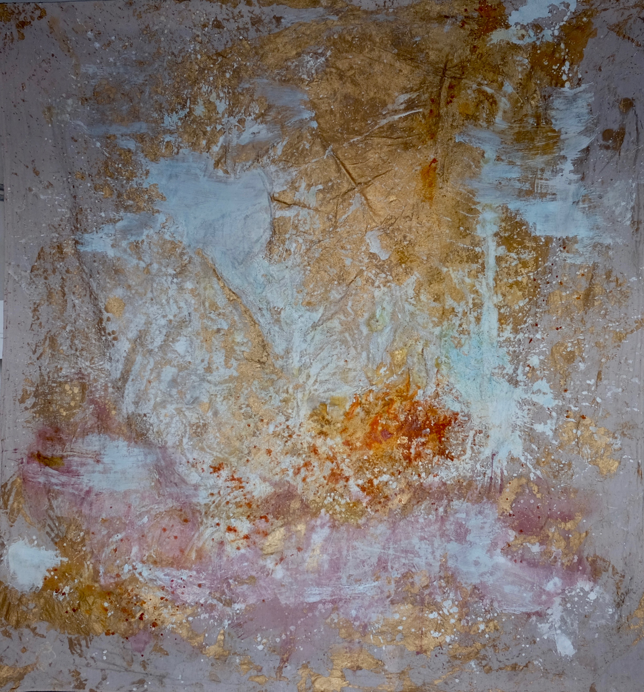 Mars 2019, 310x270 cm, mixed medias on free linen canvas