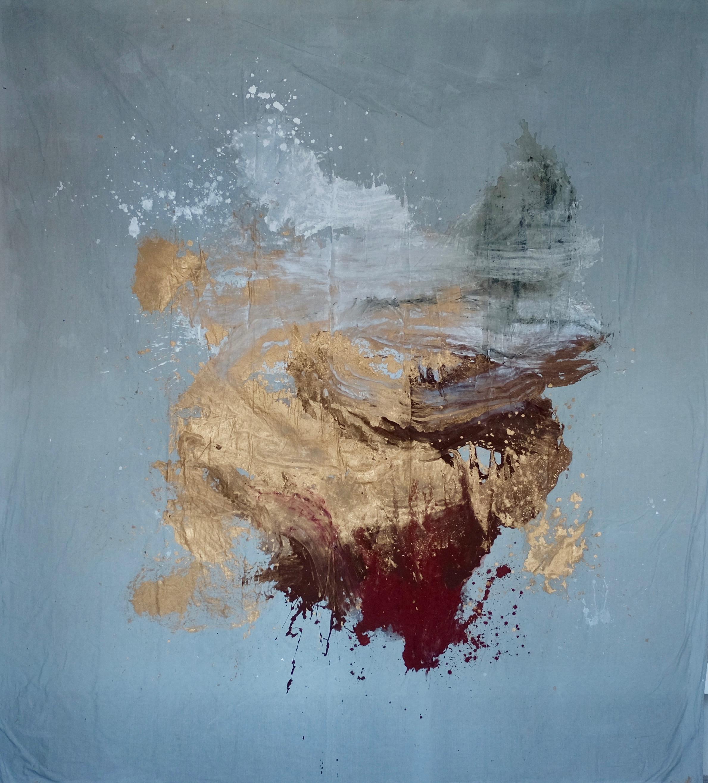 Mars 2019, 310x270cm, mixed media on free linen canvas