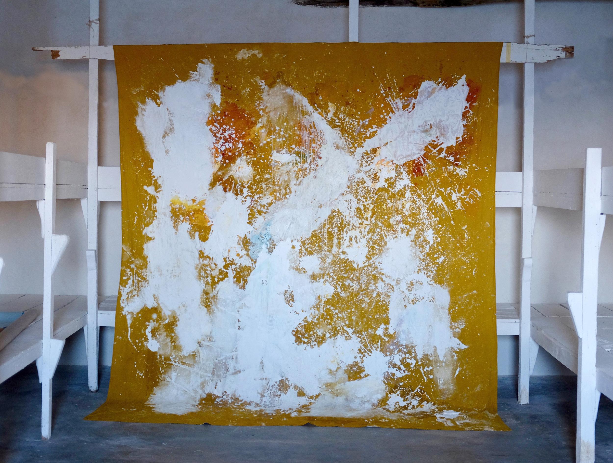 Février 2019, 310x270 cm, mixed medias on free linen canvas
