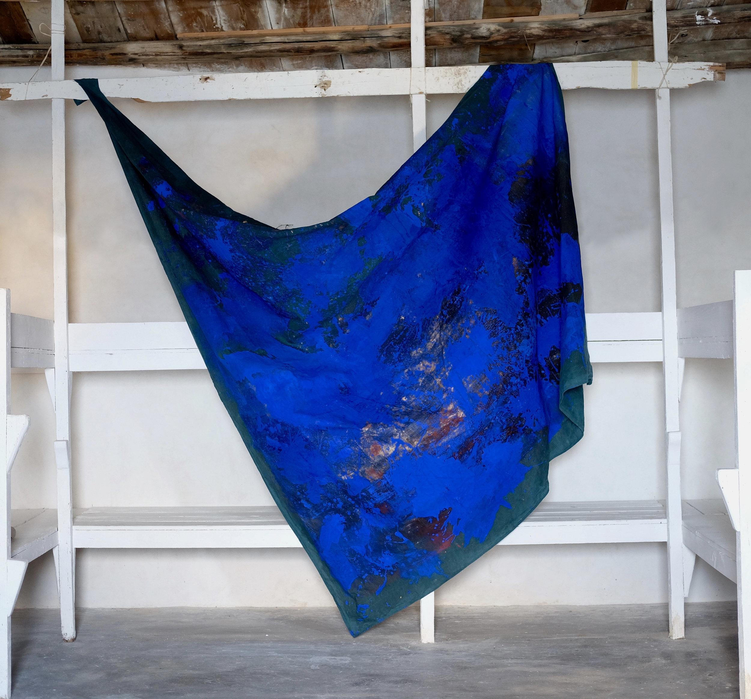Janvier 2019, 310x270 cm, mixed medias on free linen canvas