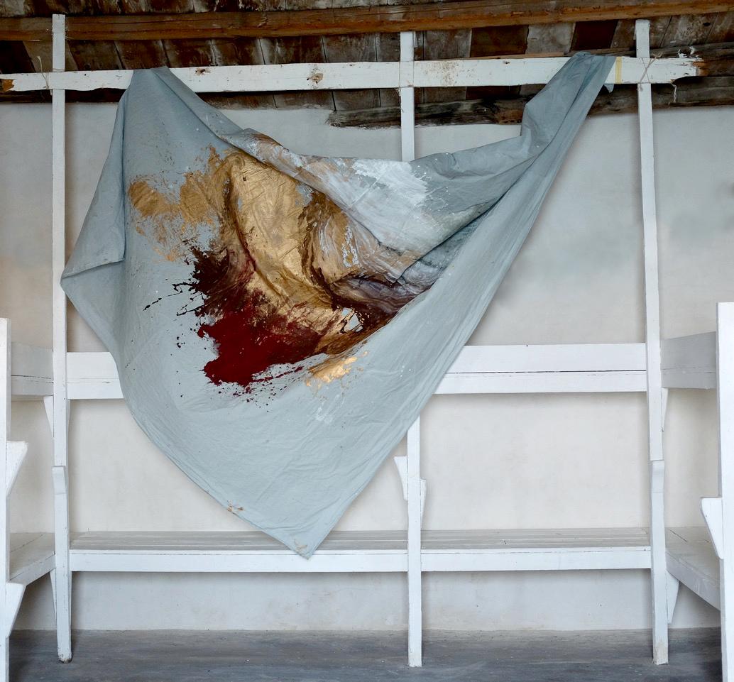 Mars 2019, 250x210 cm, mixed medias on free linen canvas