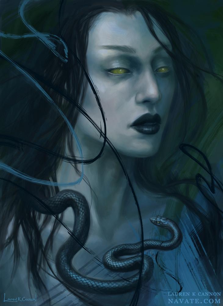 Eve - Navate - dark fantasy and horror illustration Lauren K Cannon art digital painting