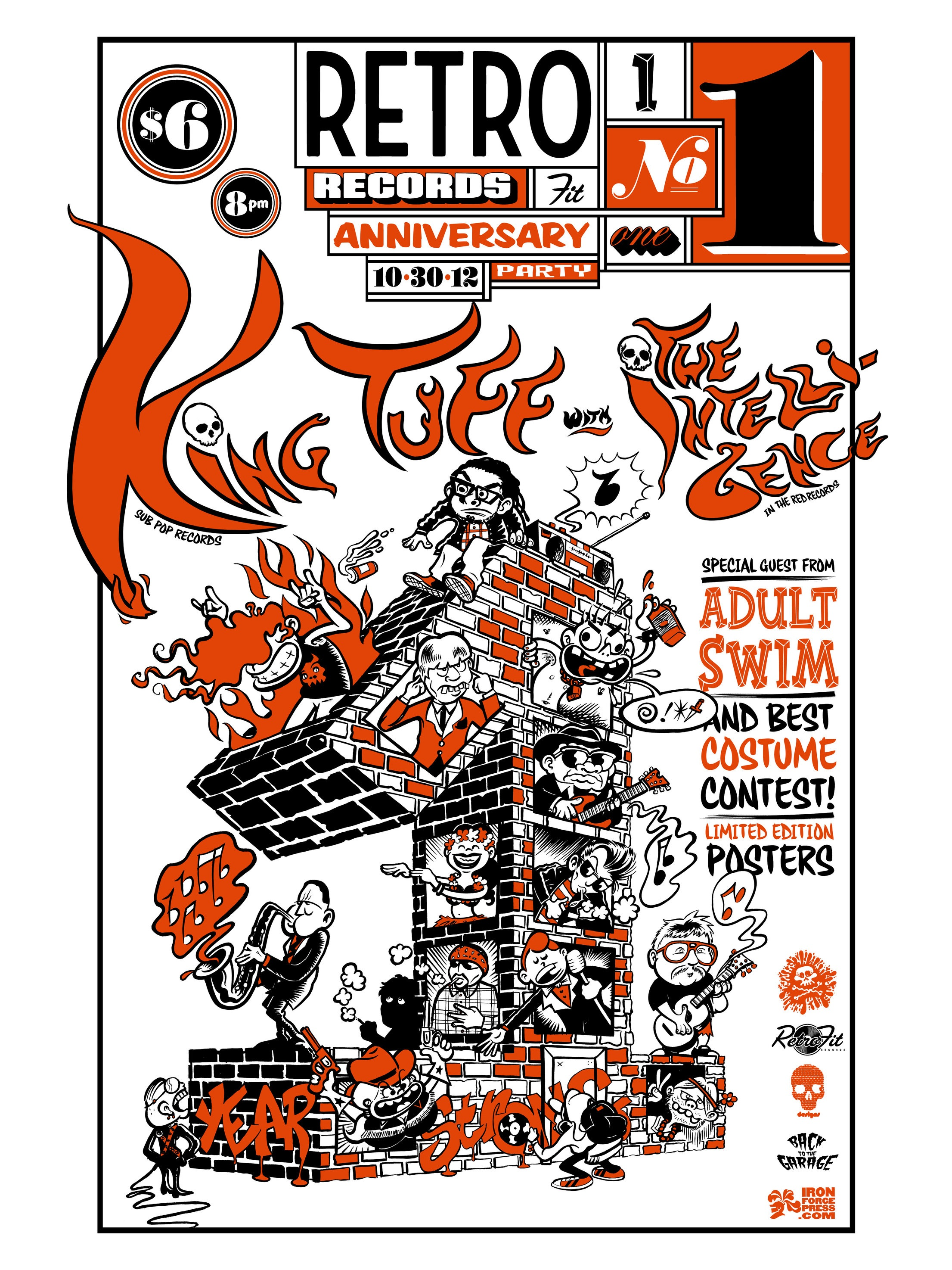 RETROFIT RECORDS 1 YEAR ANNIVERSARY POSTER