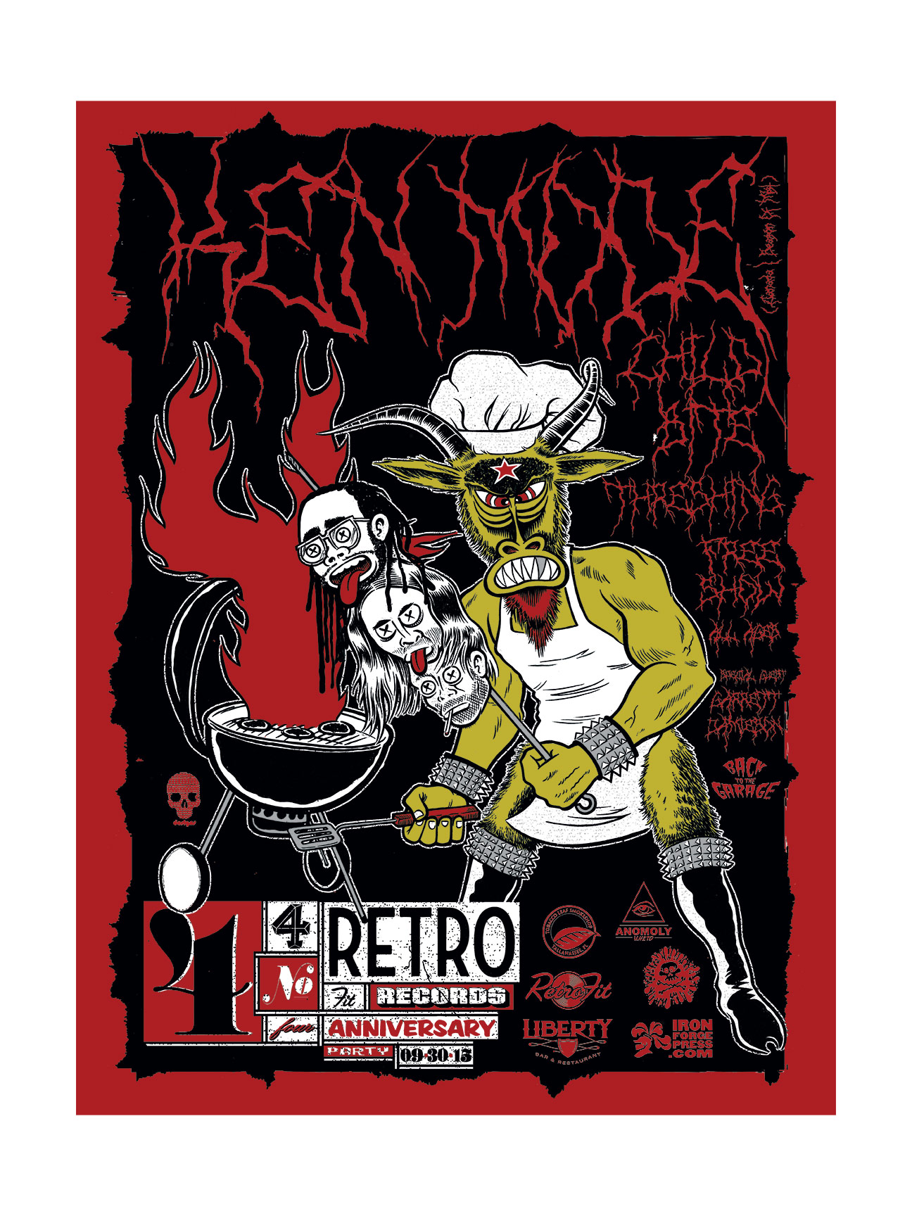 RETROFIT RECORDS 4 YEAR ANNIVERSARY POSTER