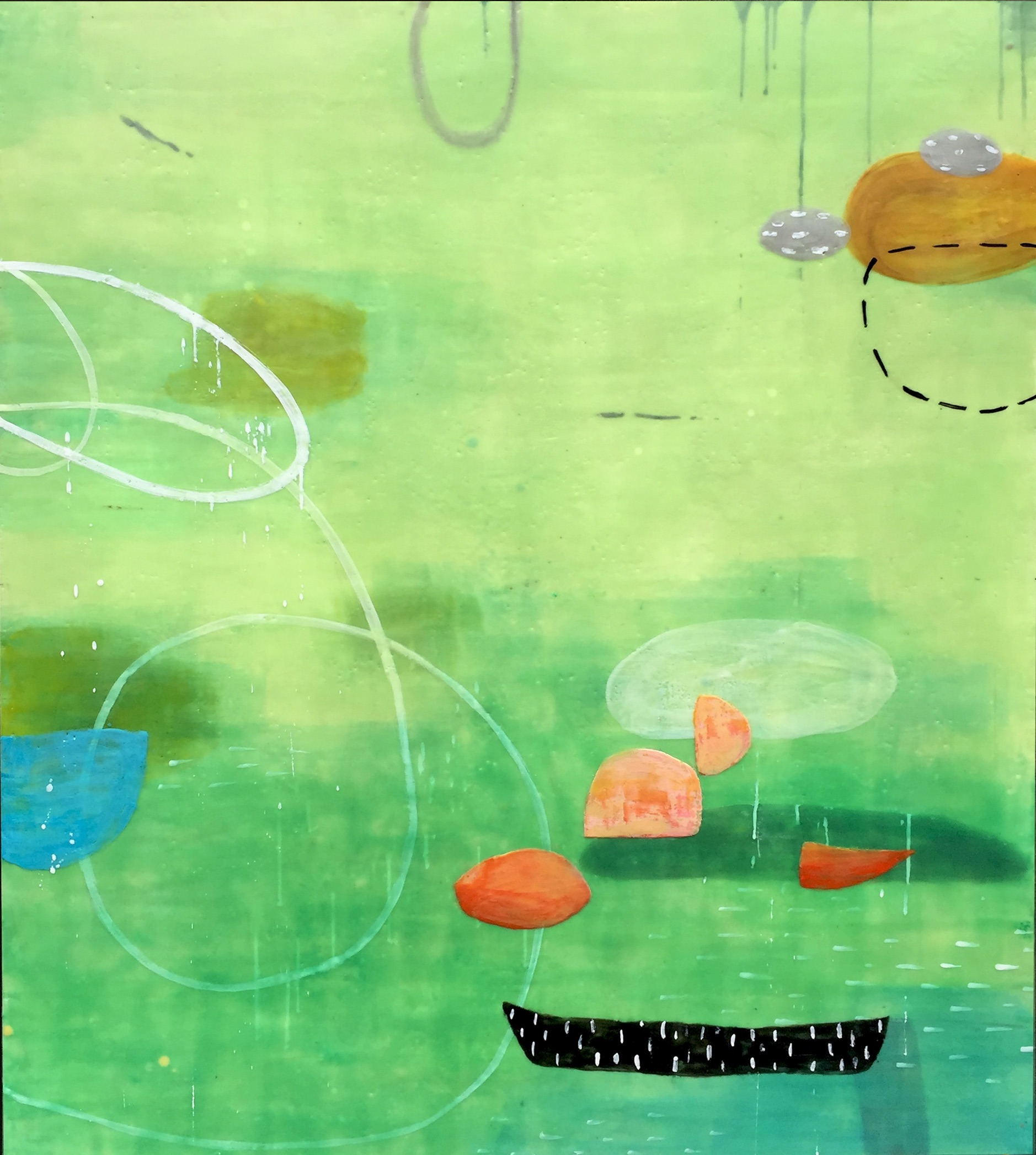 Untitled L885 48x42 encaustic on panel