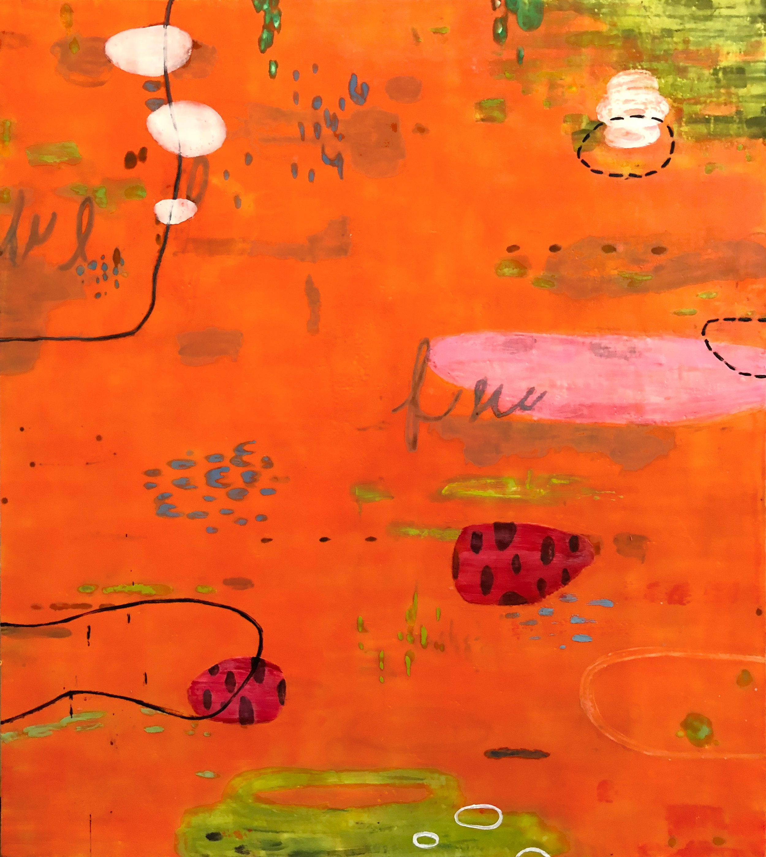 Untitled 351 54x48 encaustic on panel