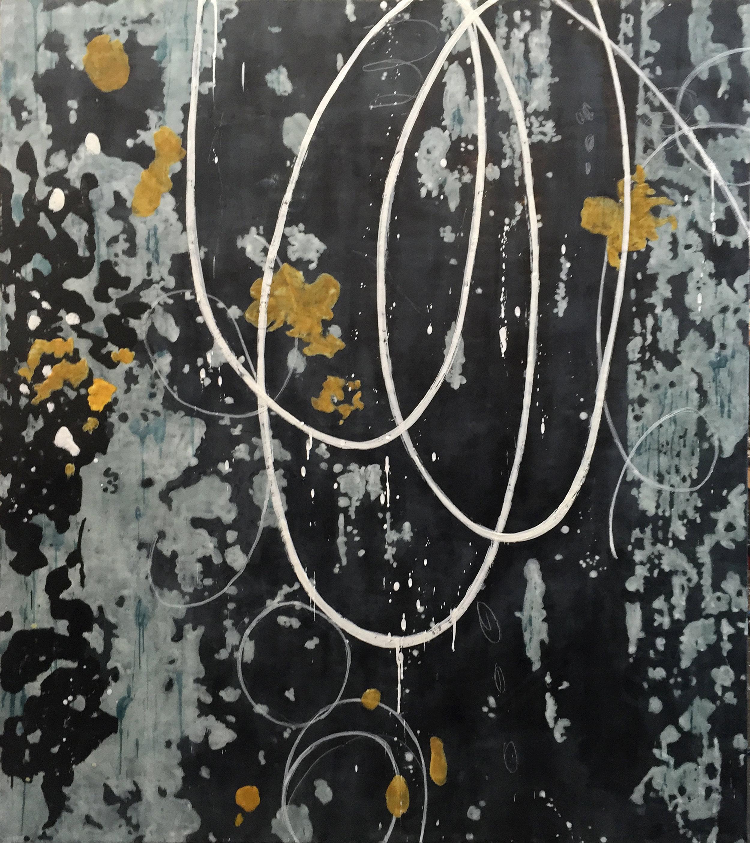 Untitled AA122 54x48 encaustic on panel