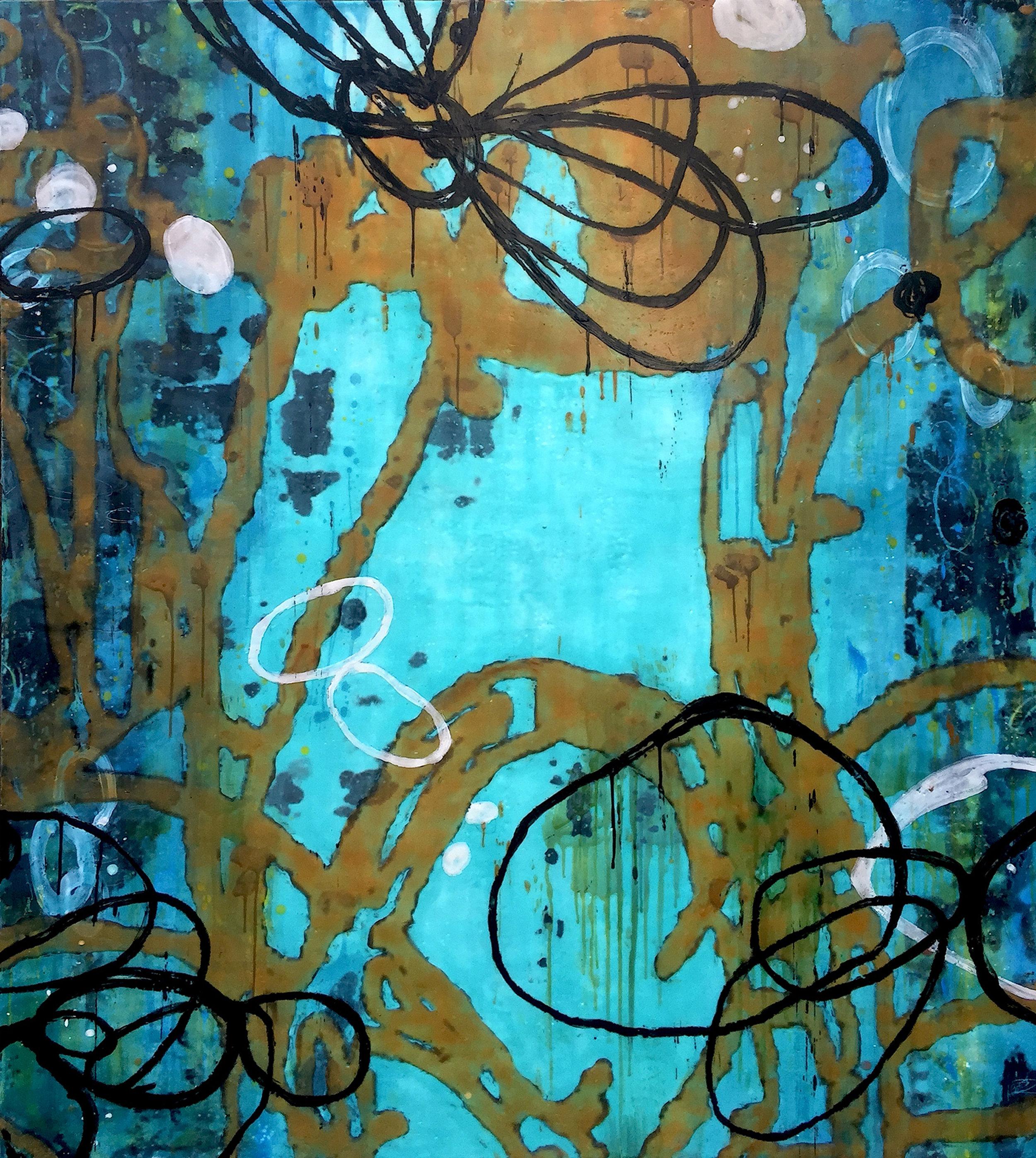 Untitled AA123 54x48 encaustic on panel