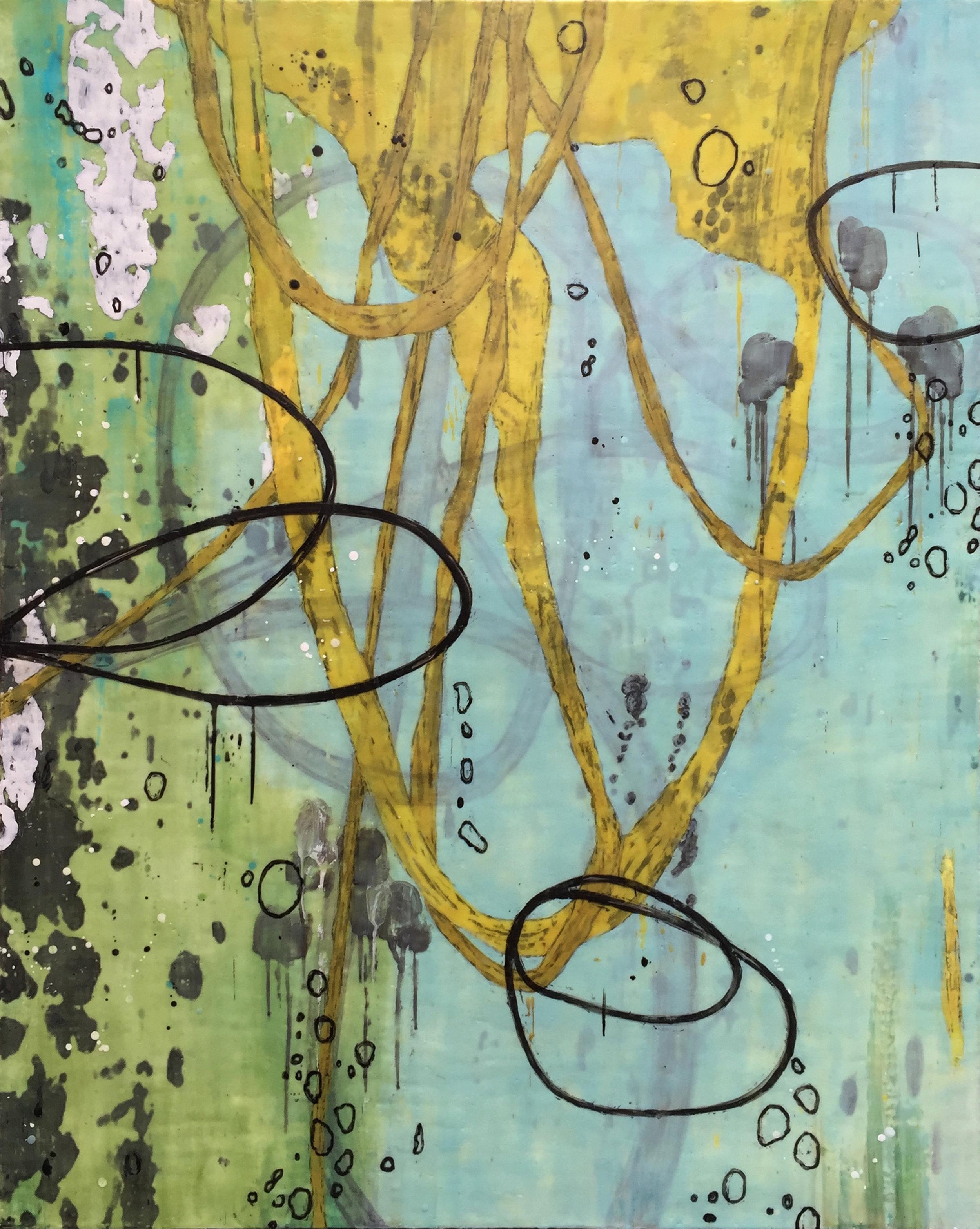 Untitled AA134 60x48 encaustic on panel