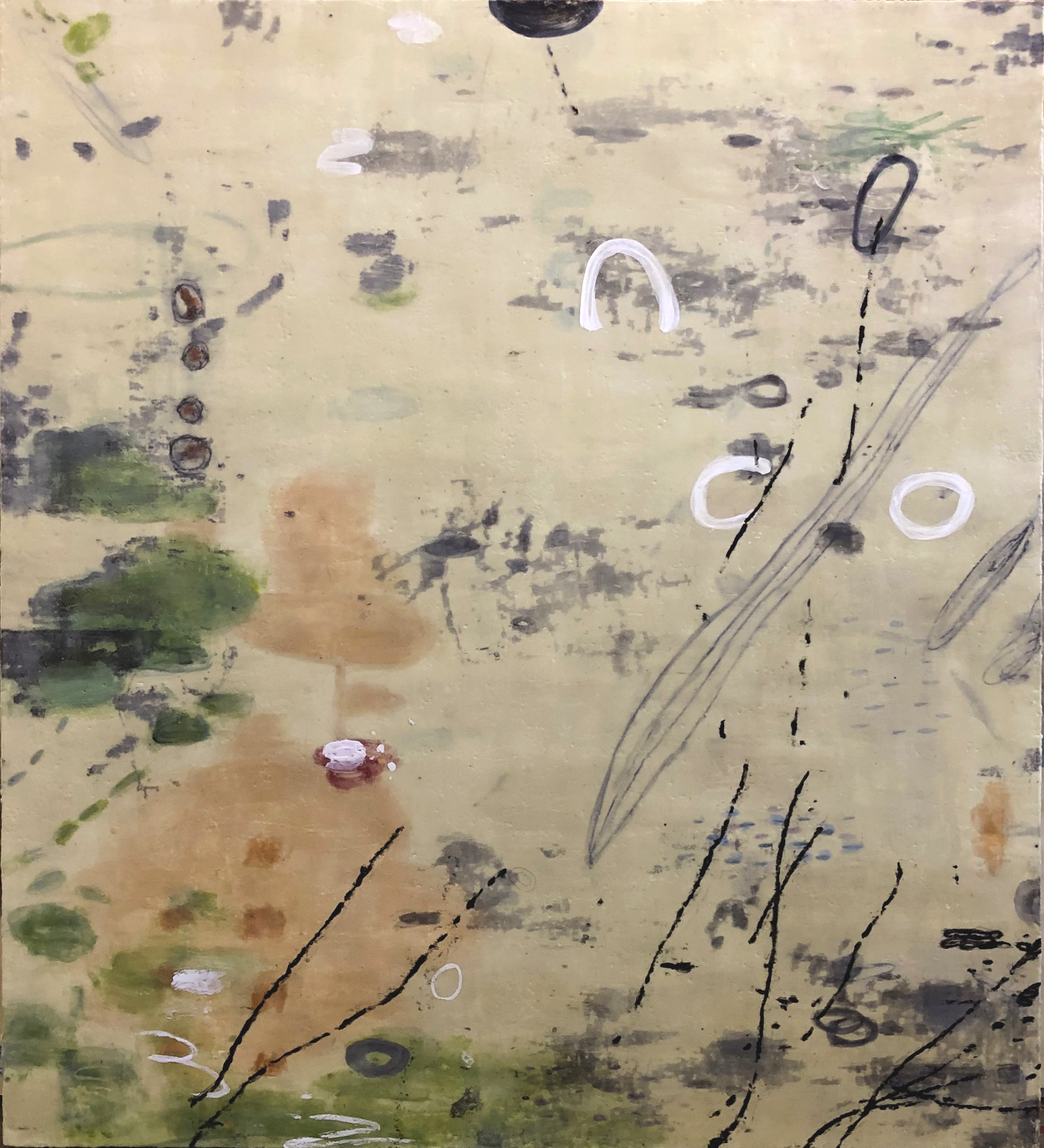 Untitled 363 54x48 Encaustic on panel