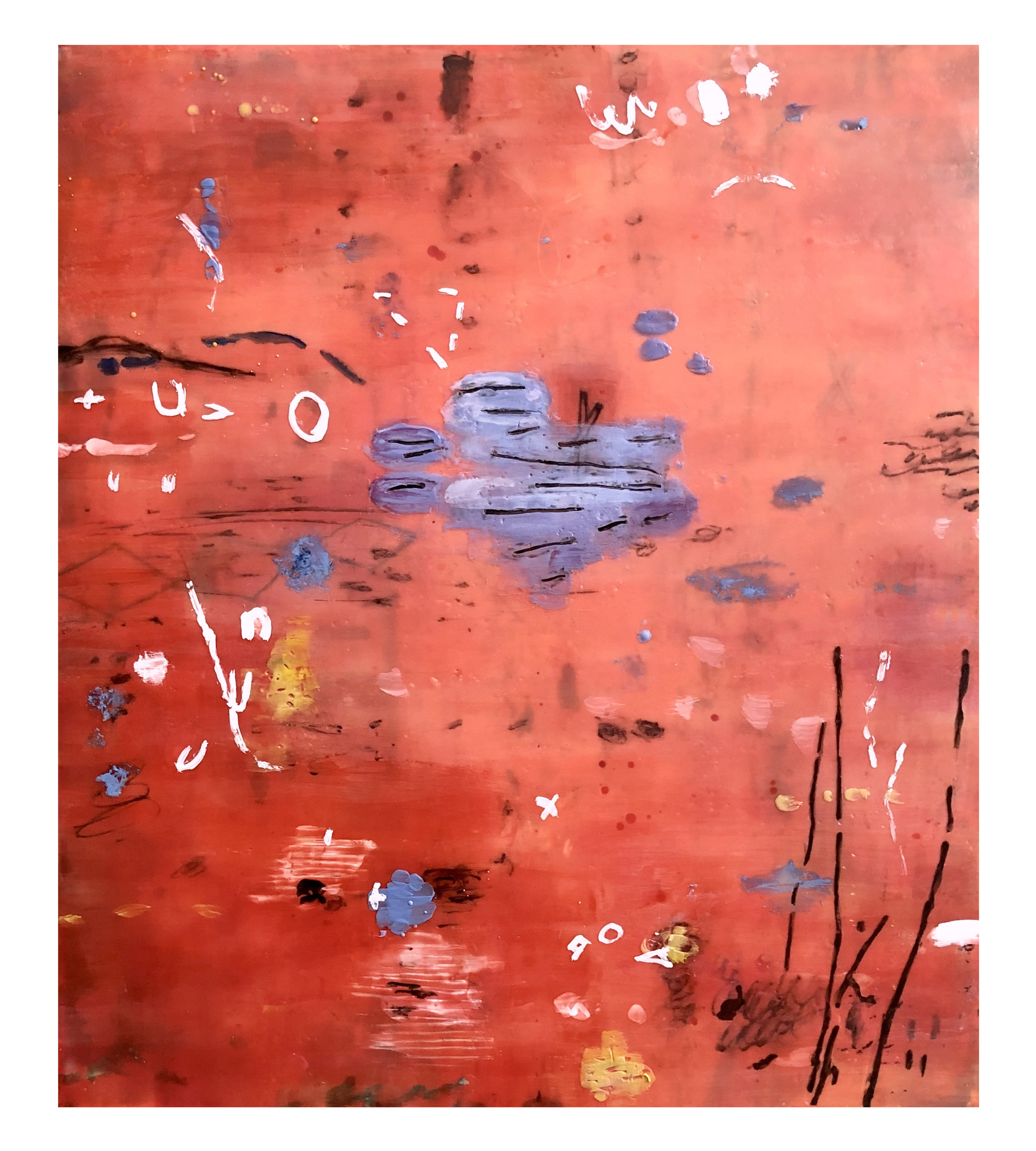 Untitled L912 31x27 Encaustic on paper
