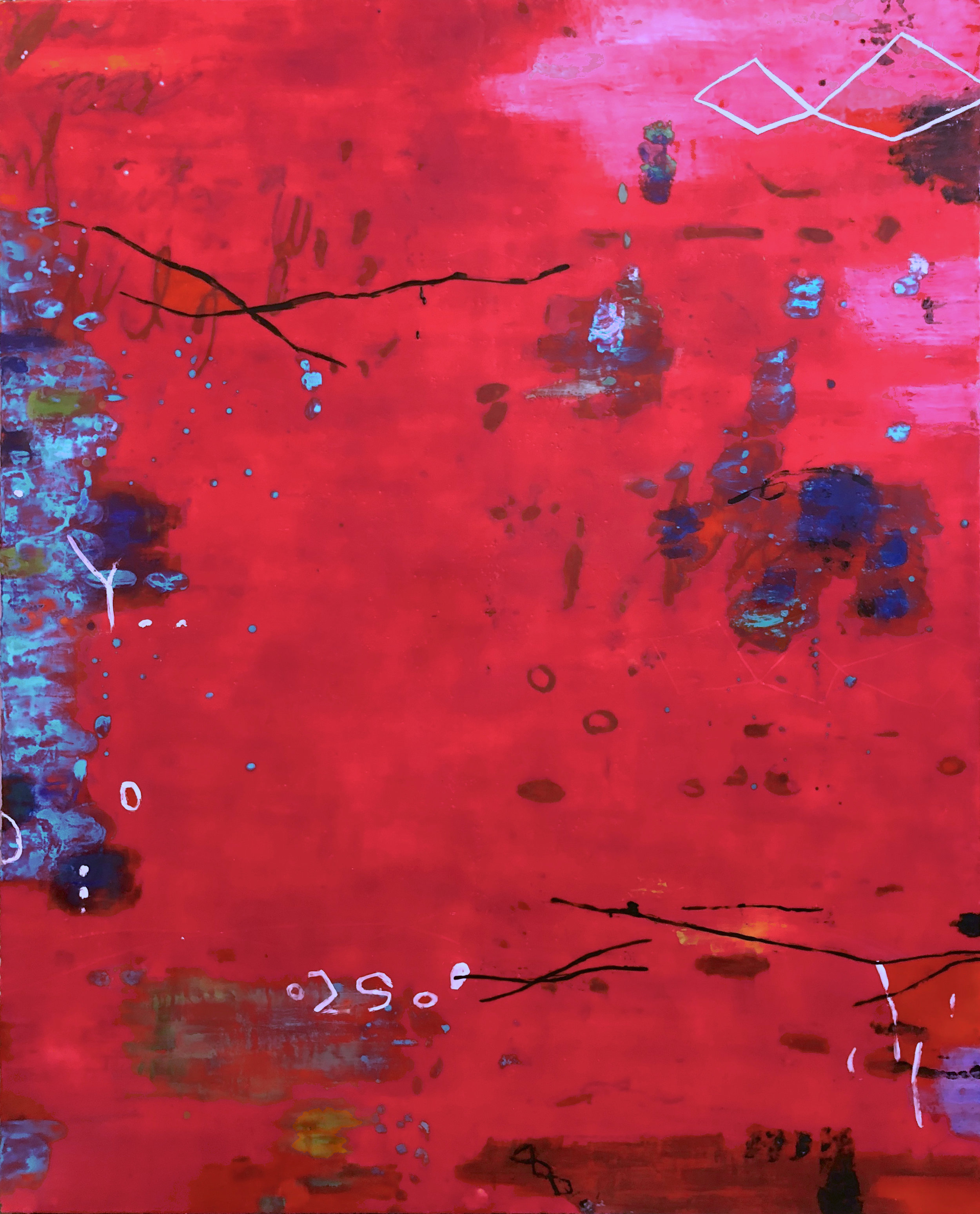 Untitled AA145 60x48 Encaustic on panel