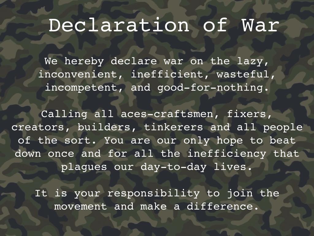 The Army manifesto