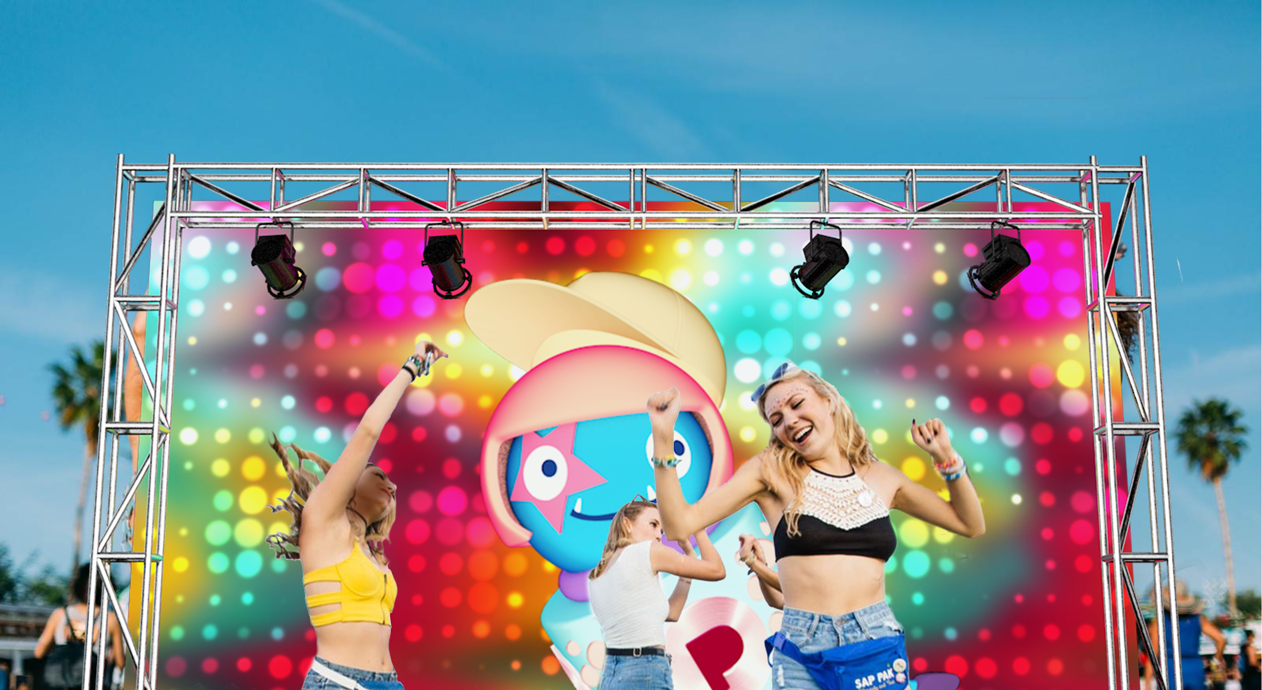 Monster Party tents lets listeners hook up their monsters to a stage to create their perfect festival experience, similar to a silent disco.