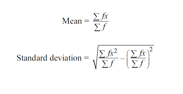 standard deviation formula o level  Calculate Mean & Standard Deviation by Formula (O Levels ...