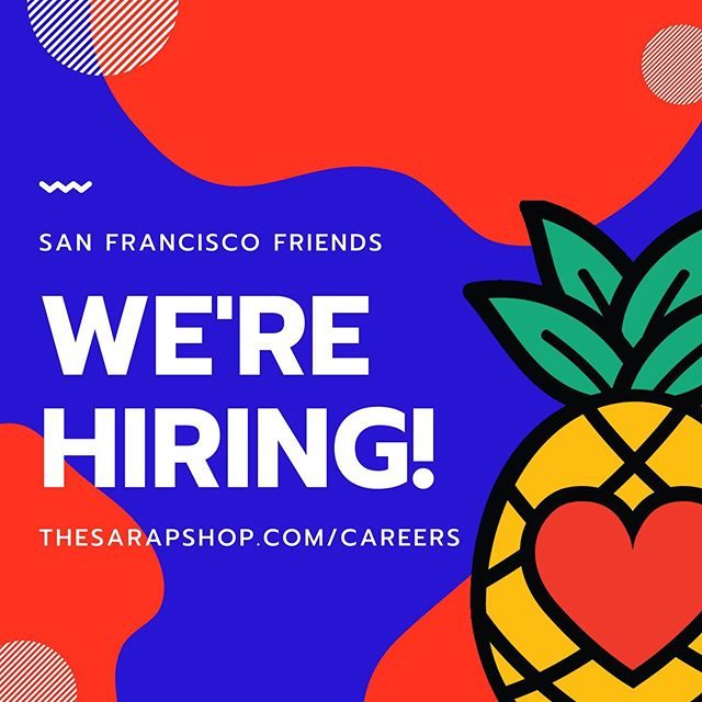 It's official! We are growing our team and looking for new friends to join our food truck crew. ☺️ More info on the specific roles open can be found at thesarapshop.com/careers. Link in bio. Tell your mom. Tell your friends. Tell your mom's friends. 📣