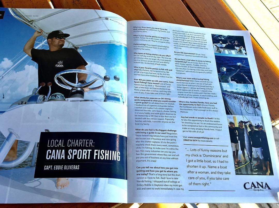 Magazine write-ups I'm blessed to be featured in (Fluid Magazine, Saltwater Sportsman, local papers and others)