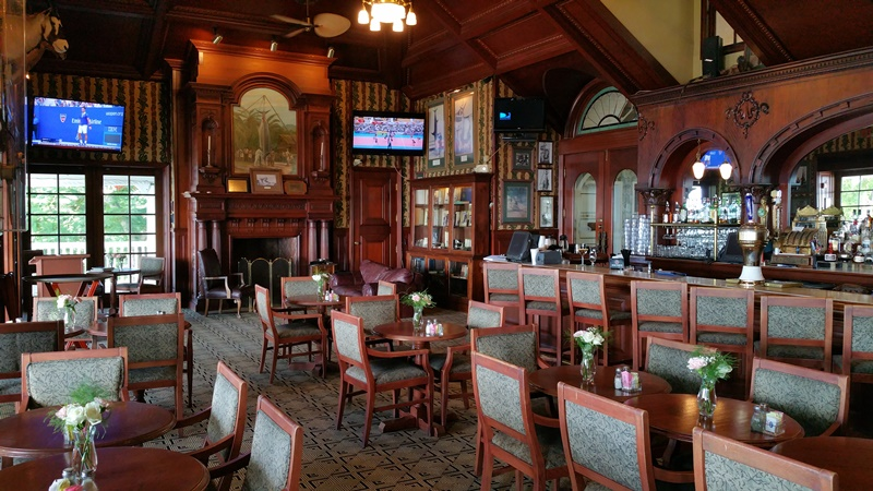 Zane Grey Lounge offers air-conditioned seating like going back in time.