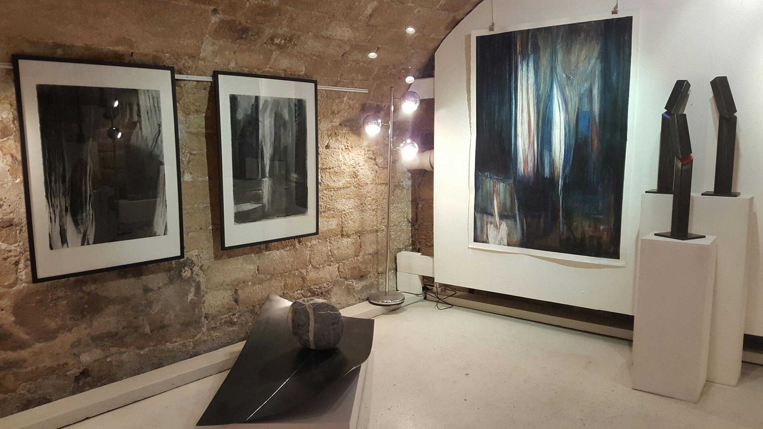"Monotypes ""Before Dark"", ""Before the Storm"" et ""Palace"",gallery Caroline Tresca, Paris"