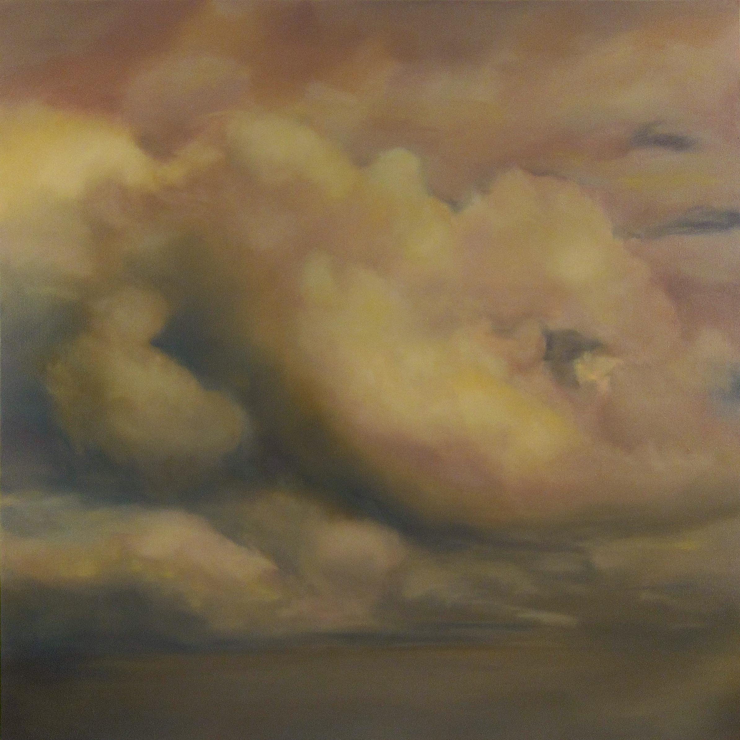 Cieux de Braises , 2017  oil on linen, 63 x 63 in, 160 x 160 cm