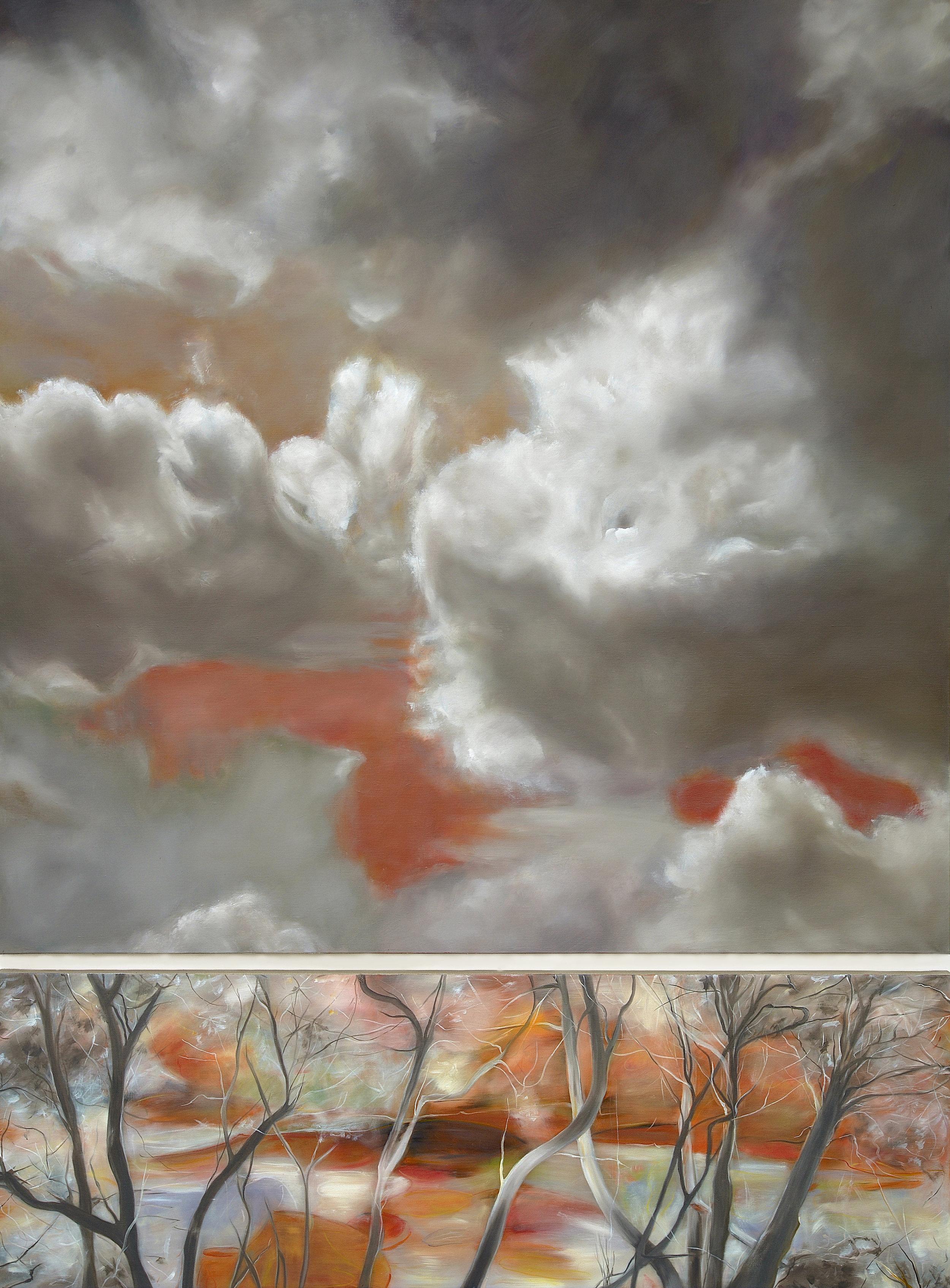 Invitation au Voyage,  2016  oil on linen, diptych, 84 x 63 in, 213 x 160 cm