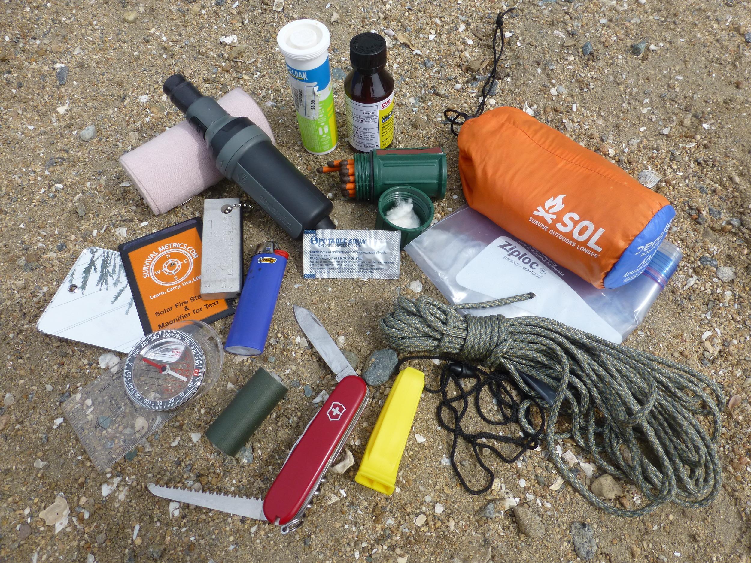 survival kit, bush mechanics, survival san diego