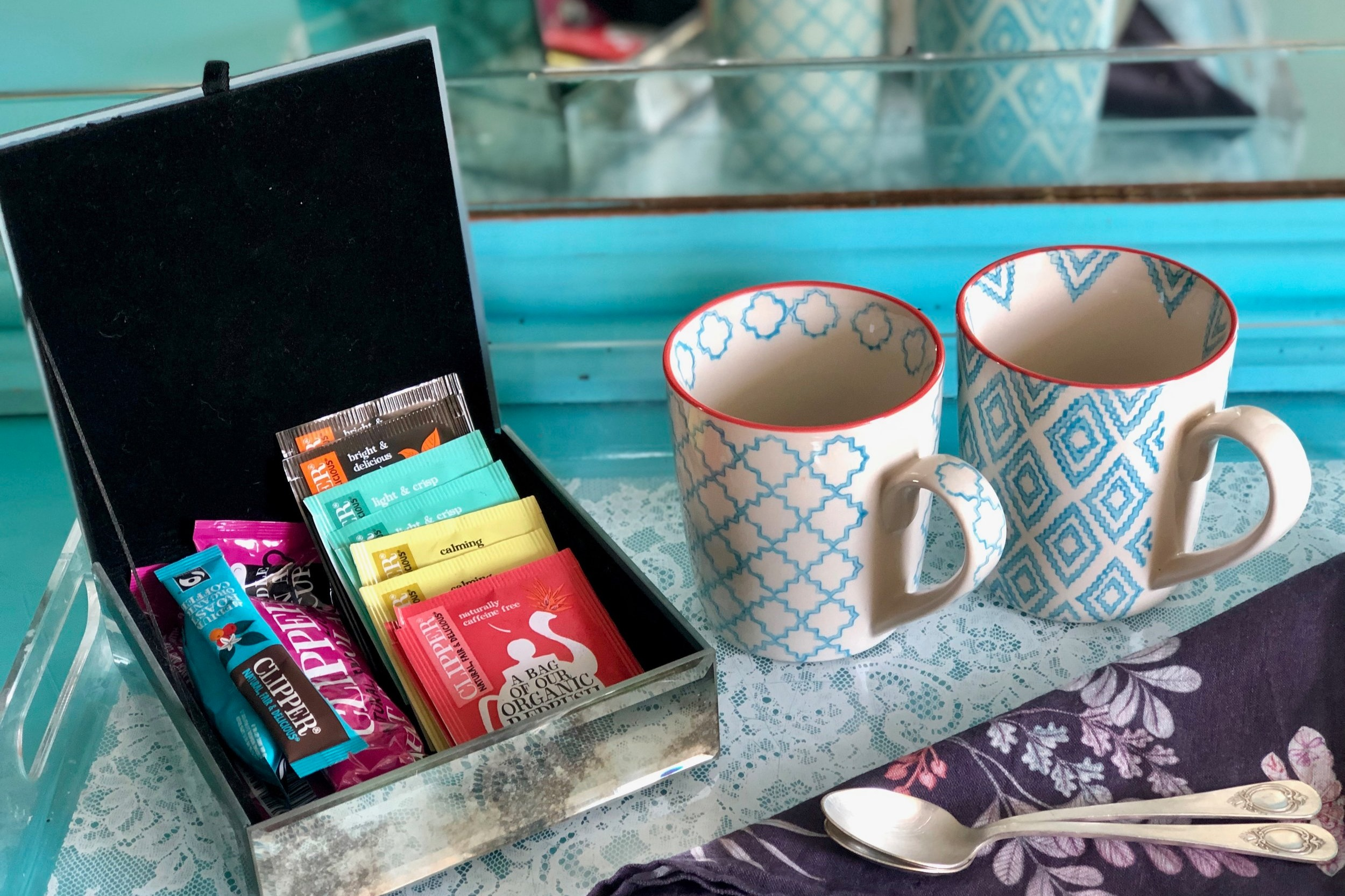 Hot drinks & HOusekeeping - Enjoy our selection of of organic Clipper hot drinks, tea, coffee and hot chocolate. Available in your room and refilled every morning.Our daily housekeeping service keeps your room spick and span so you can have more time to do the fun stuff.
