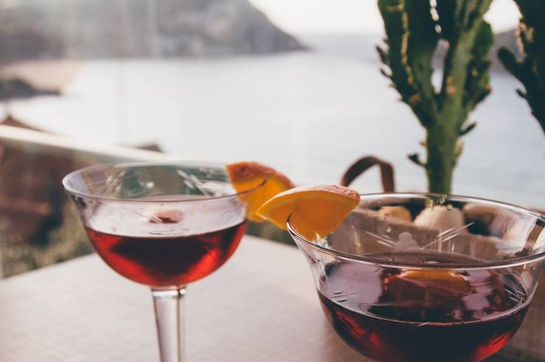 drinks - We serve Vermouth cocktails, beers and wines. We recommend a sunset drink, prior to venturing out for dinner.Hours are from 18:00 to 20:00.