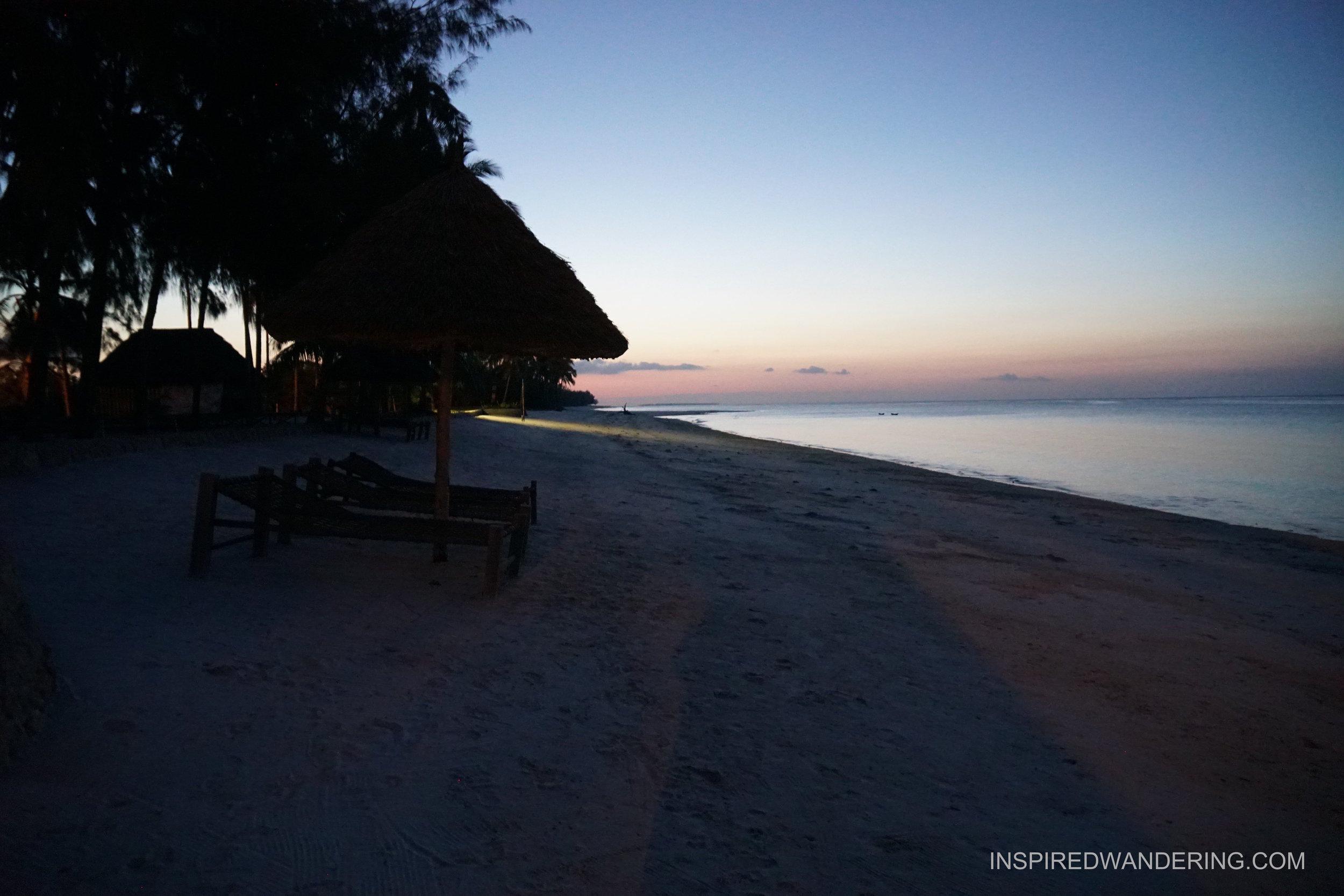 Sunset on Butiama Beach