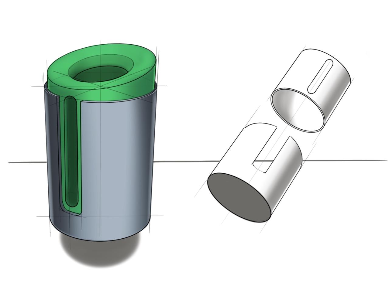 Recycled Plastic Bag Dispenser Concept