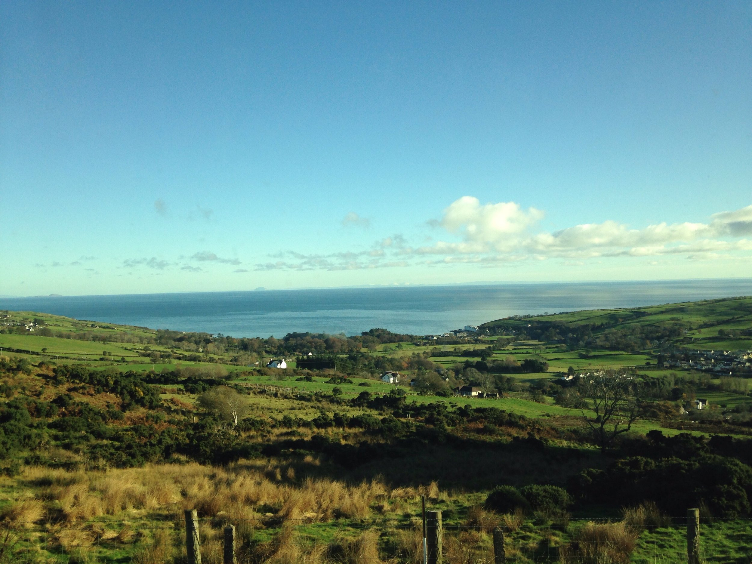 Looking out over Northern Ireland. © E.A. Crunden