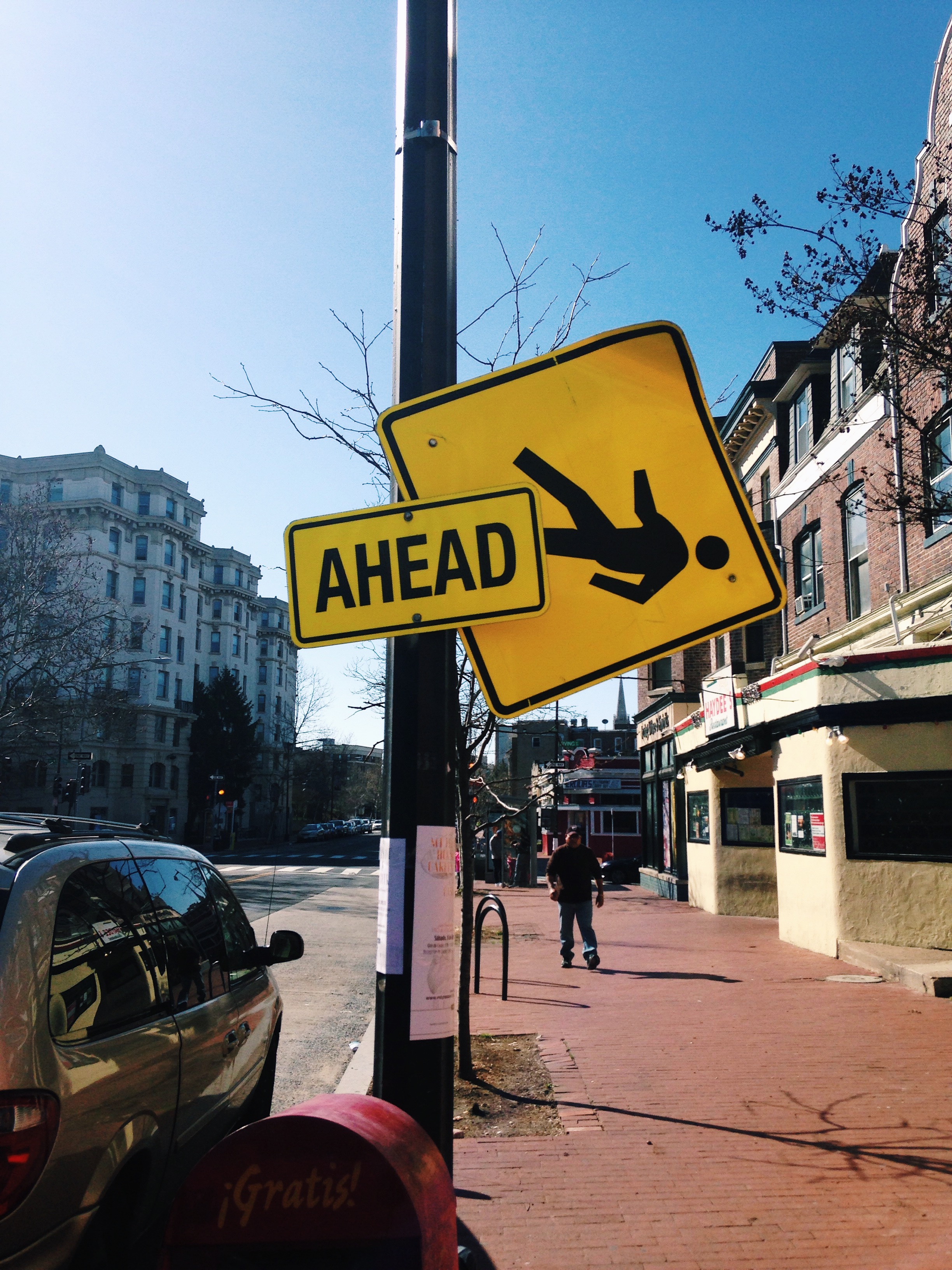 D.C. road signs mirror reality. © E.A. Crunden