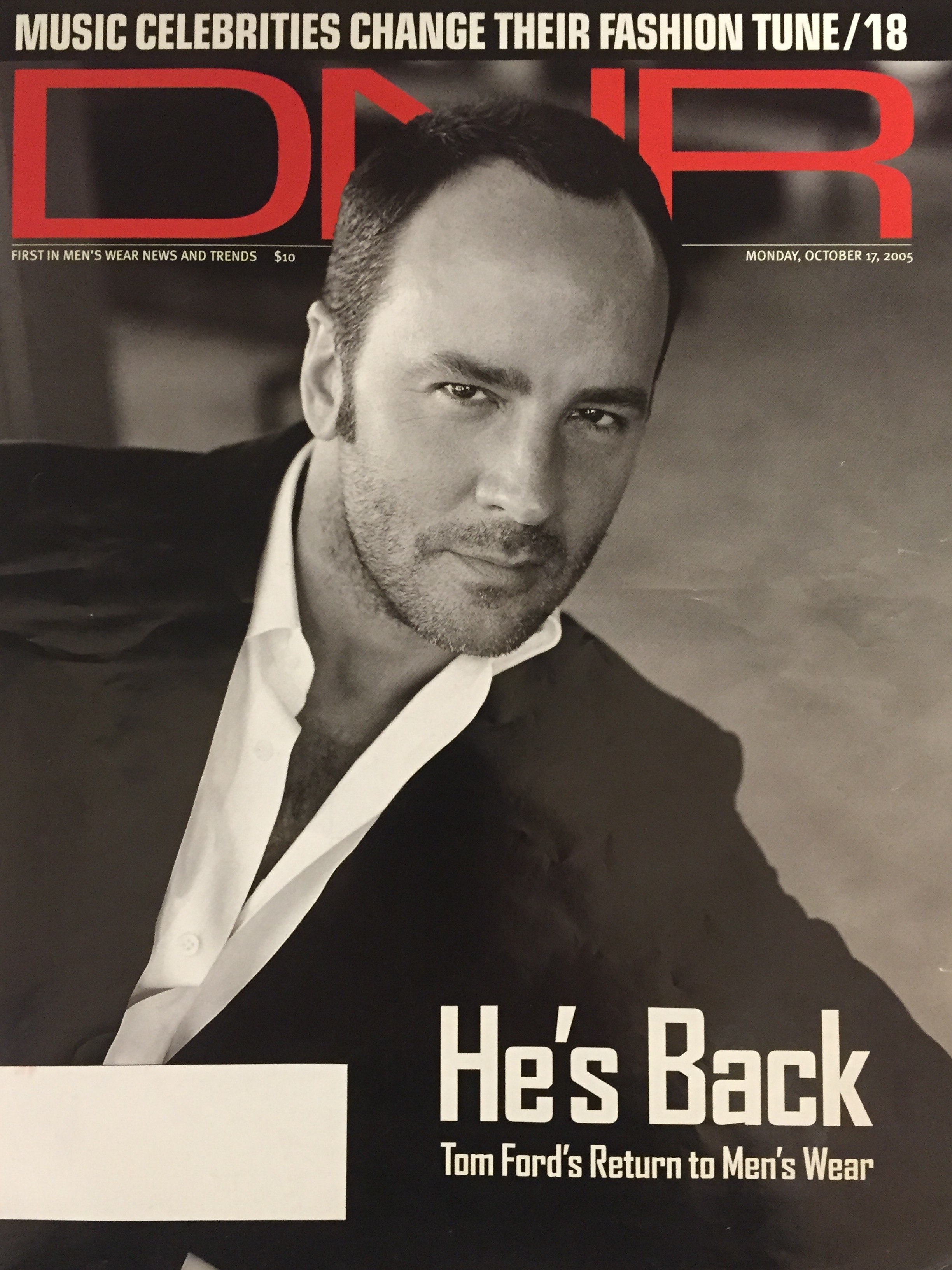 Tom Ford, DNR magazine