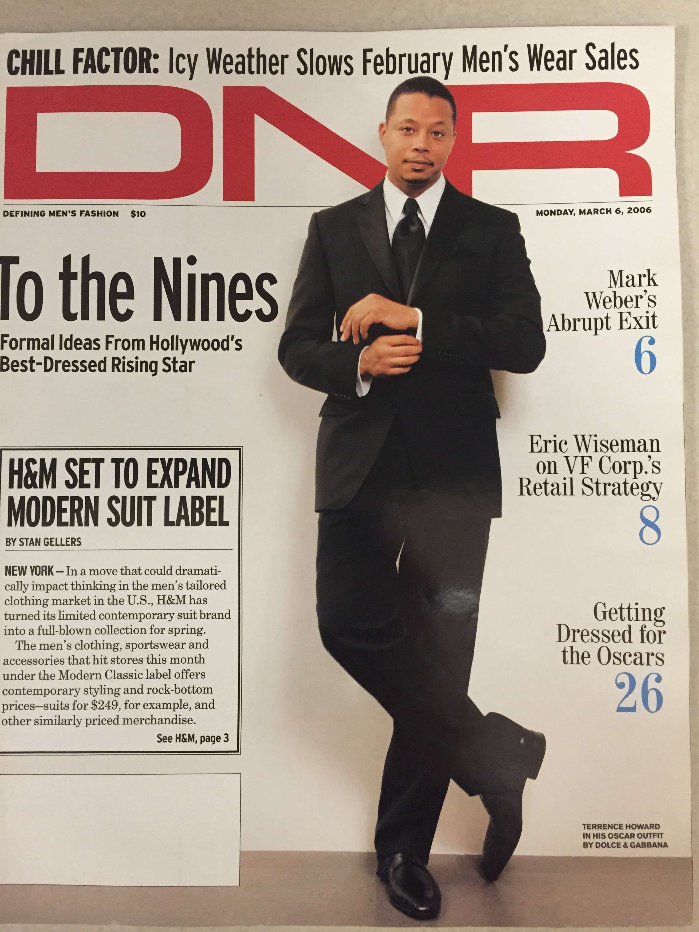 Terrence Howard, DNR magazine