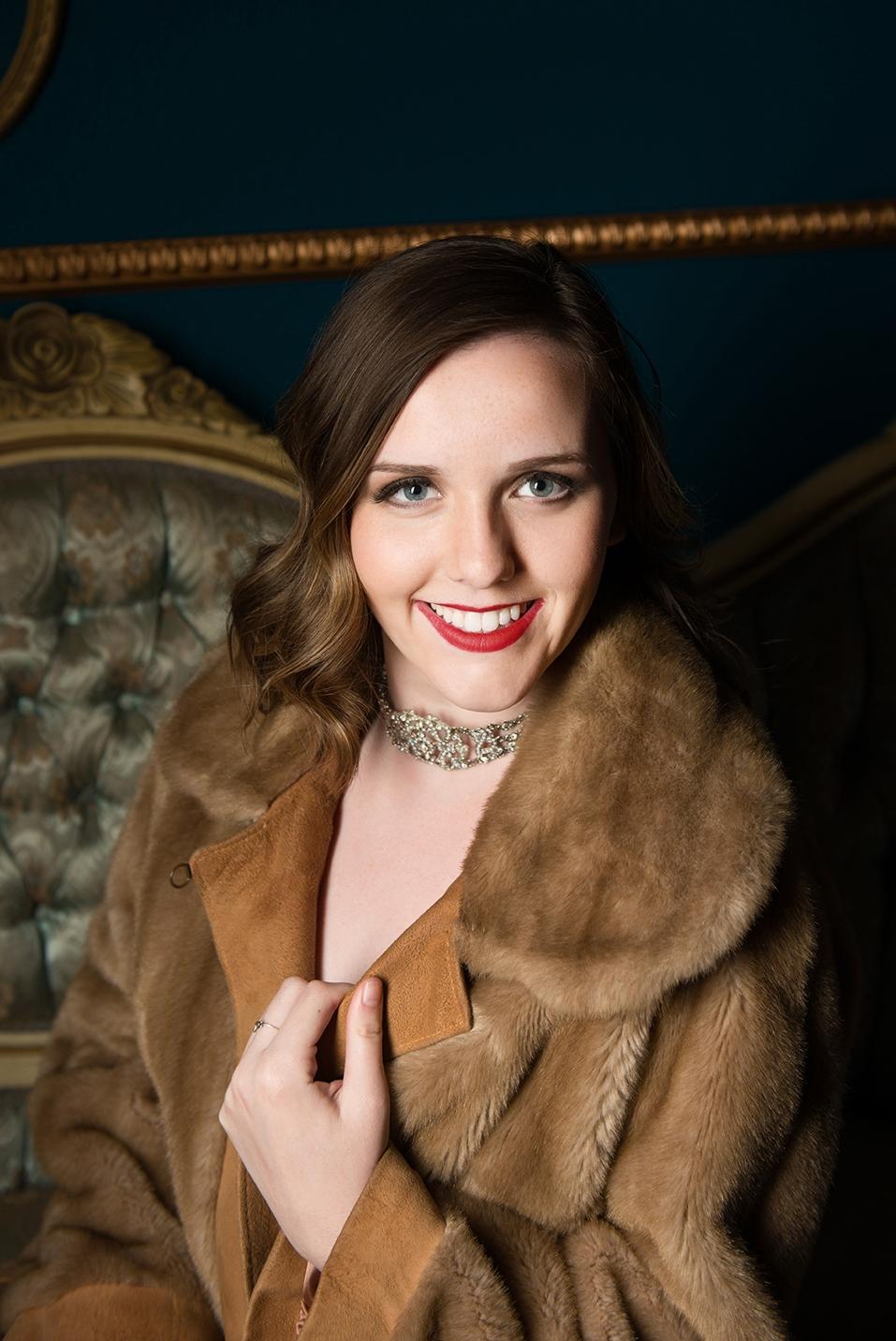Jessica Fur coat