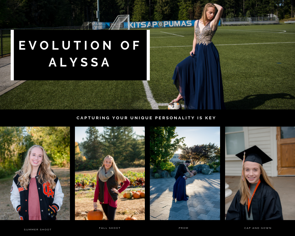 EVOLUTION of ALYSSA Central Kitsap High School Elaine Turso Photography