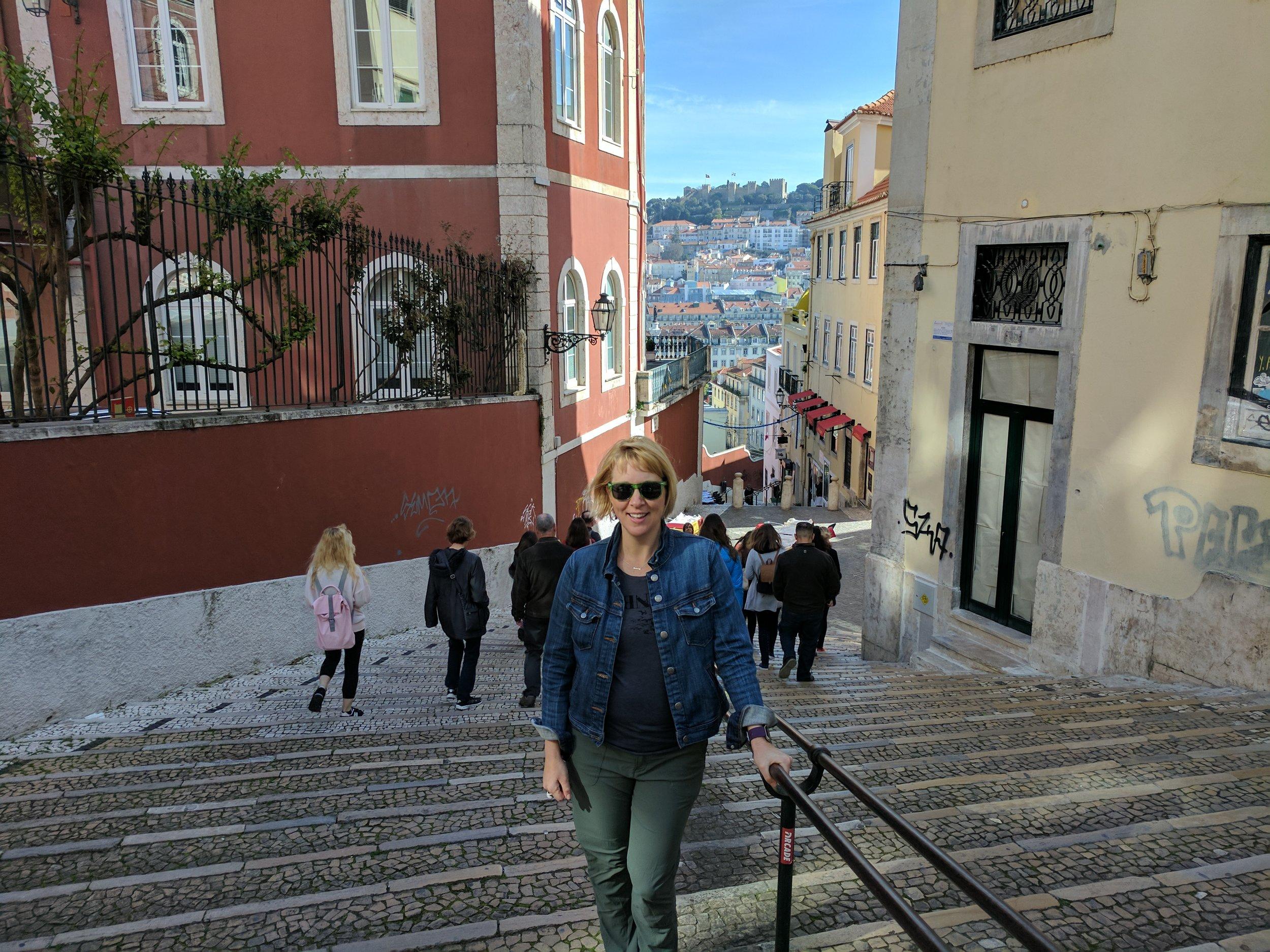 Megan in Portugal.