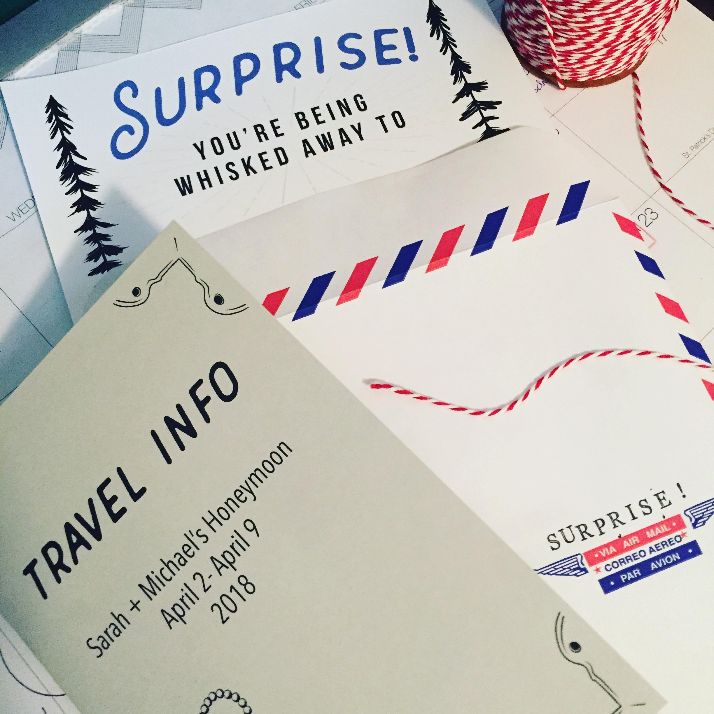 Whisked Away Surprise Travel:  Surprise Envelope