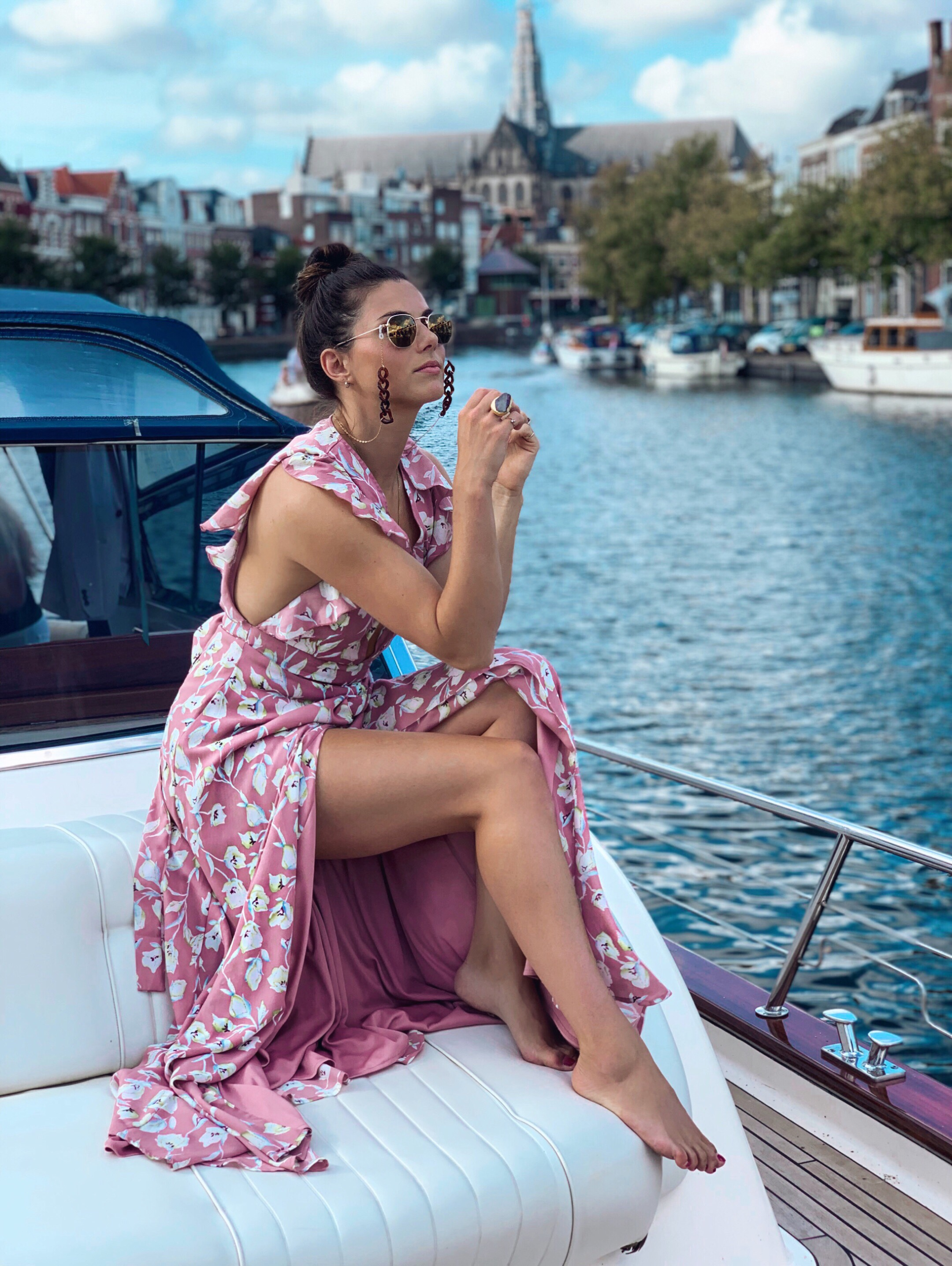 Let's sail away ➳ - Shop the LookWrap dress: HereWrap dress (other colors): HereSunglasses: HereChain: Here