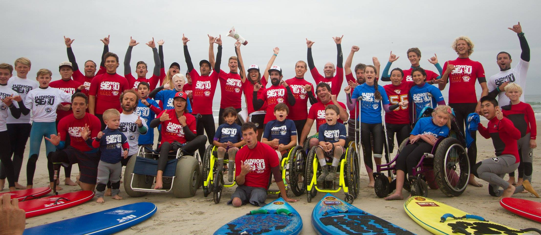 2016 Junior Seau Foundation Adaptive Youth Surf Camp presented by CAF
