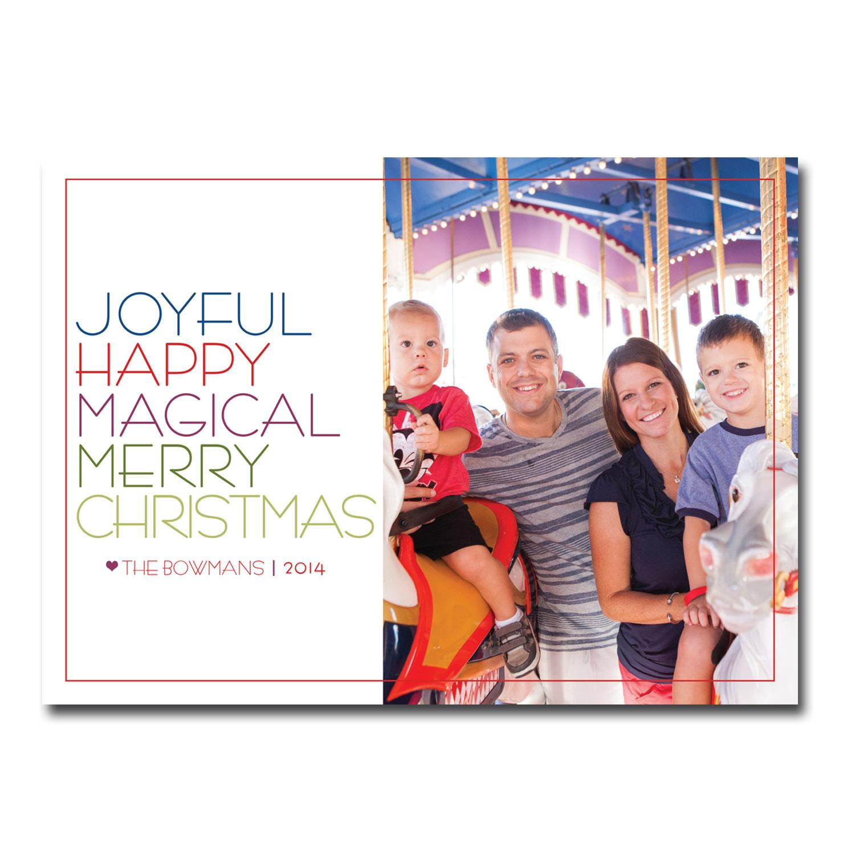 disney world themed christmas card with photo.jpg