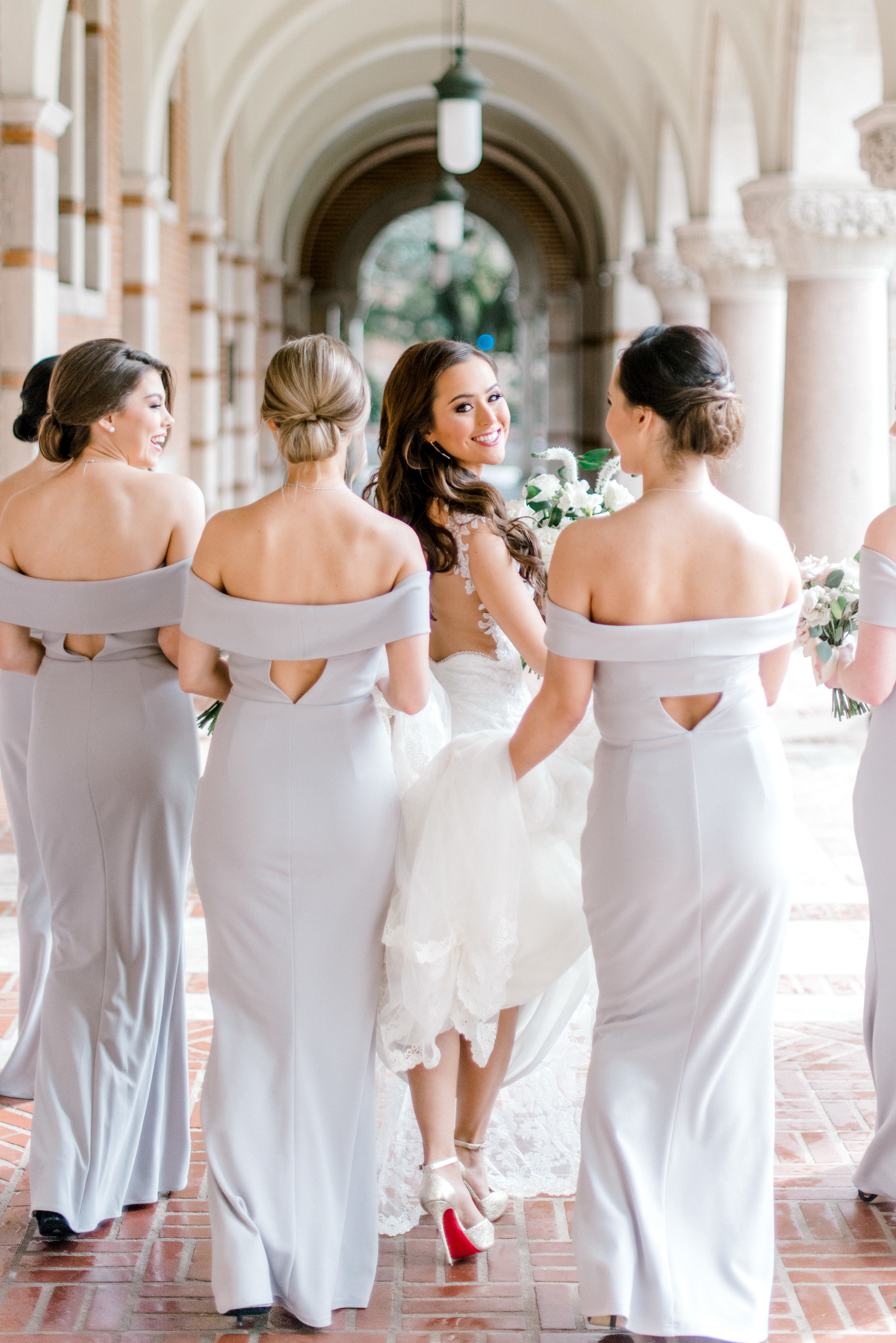 unique bridesmaid dresses off the shoulder houston wedding.jpg