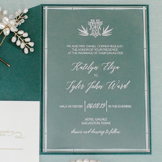 That one time I designed a laser cut acrylic invitation and @kaseylynnphoto KILLED IT on capturing it. Huge thanks also to @lasercutco for making this happen and having great customer service! Happy Monday y'all! #houstonweddings