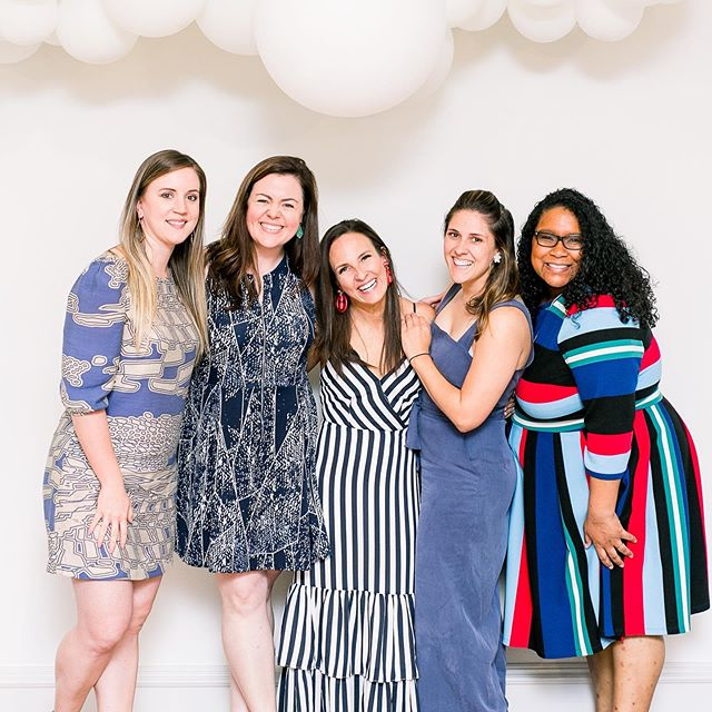 Hey y'all! So, it's #fridayintroductions time. This photo was taken a few months ago at my SURPRISE birthday party planned by the lovely ladies standing next to me. These women are my support system for my business and I love them each so, so much. We meet once a month to talk about goals and struggles and everything in between while keeping each other accountable. Do y'all have a group like that? I sure hope so! 📷: @smithhousephoto