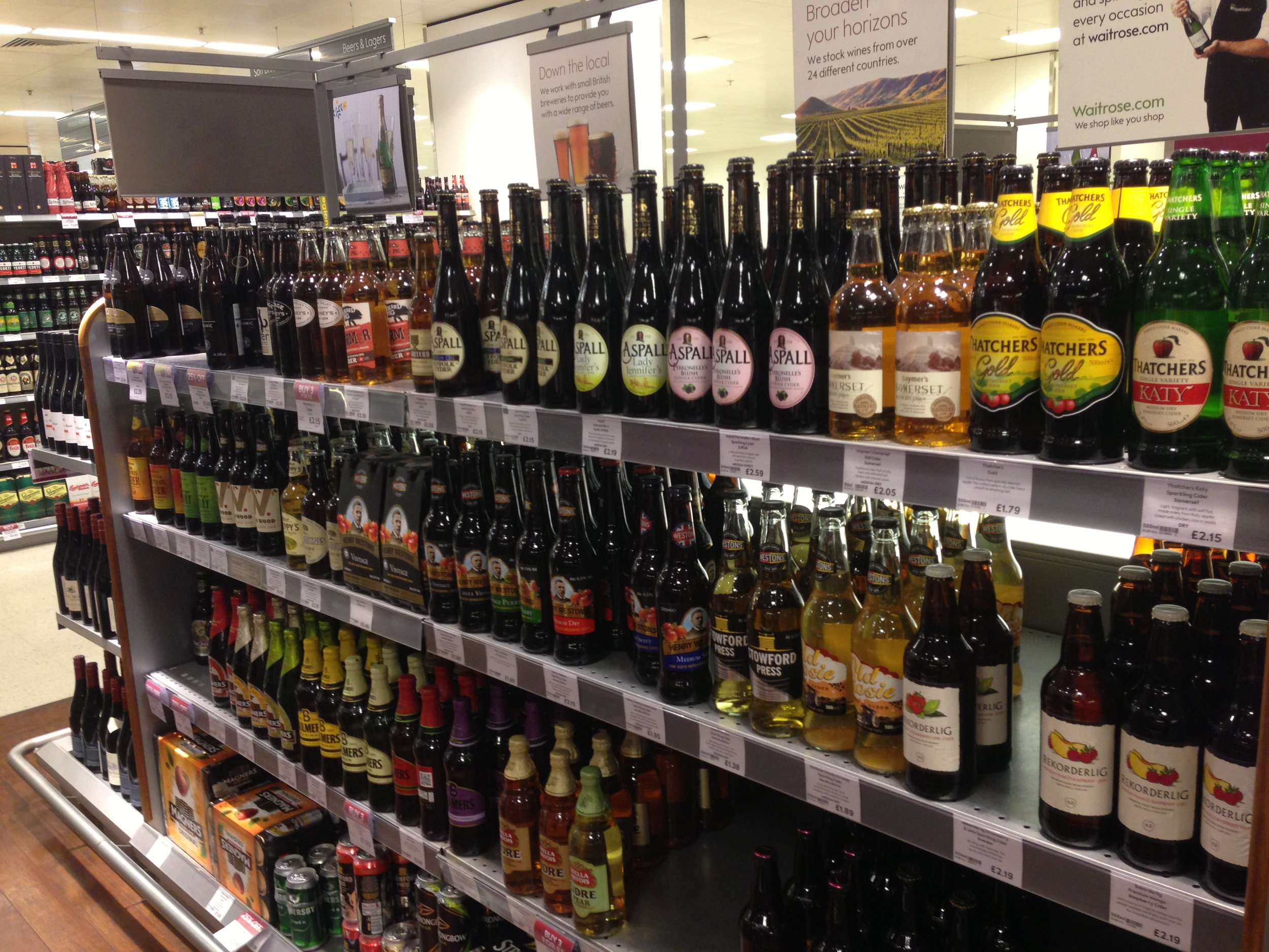 Waitrose love me back, please! You and all your beautiful ciders.