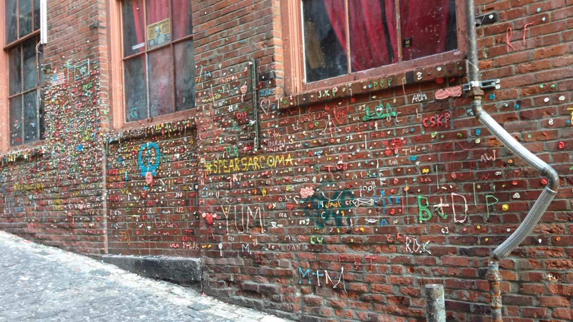 Gum walls - not your usual Seattle!