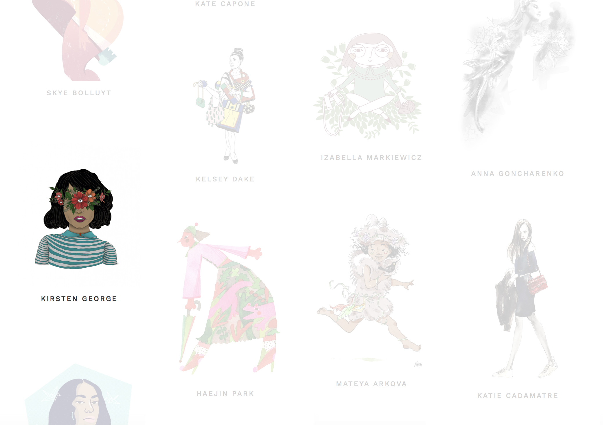 Featured on Women Who Draw, an open directory of female illustrators.
