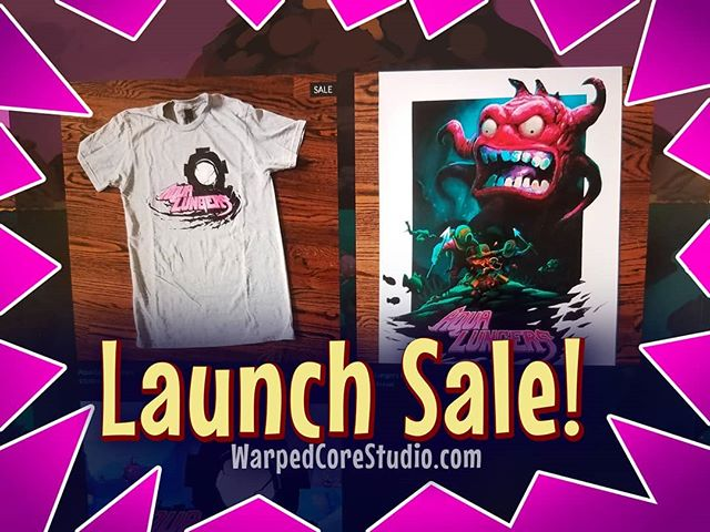 Hey! Come check out the launch #sale we are having at the WarpedCore Studio website! Shirts are 20% off and posters are 33.3333...% off! This is a limited time only sale, so get it while it lasts! Link on linktree!  #gaming #gamedev #indiegame #discount #savings #shirt #poster #videogames #retrogames #monsters #divers #underwater #ocean #color #steam #madewithunity #2dart #2dgame #splitscreen #coding