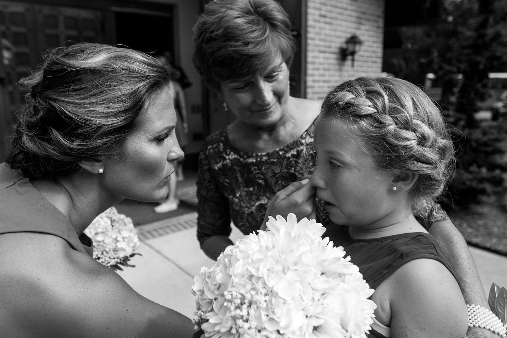 The tears of the bride's sister