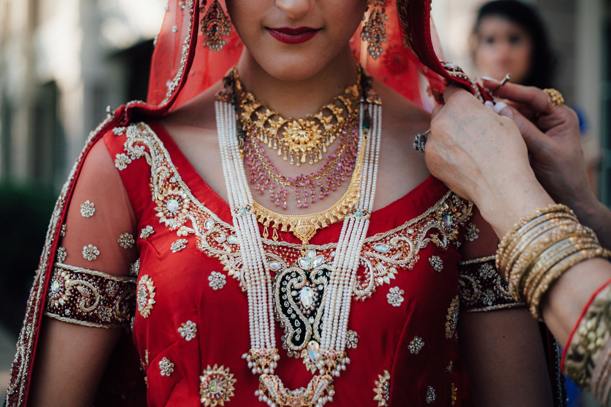 The bride and her Lehenga dress